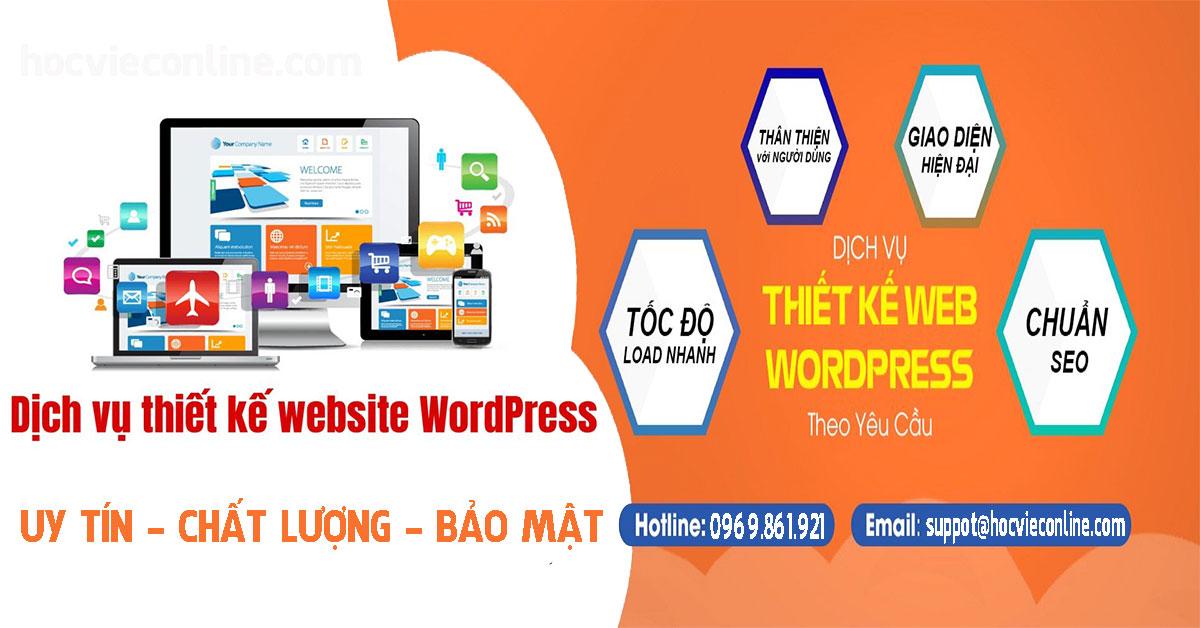 dịch vụ thiết kế website chuẩn seo bằng wordpress